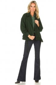 Lois Jeans |  High waisted flared jeans Raval L34 | dark blue  | Picture 3
