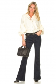 Lois Jeans |  High waisted flared jeans Raval L34 | dark blue  | Picture 4