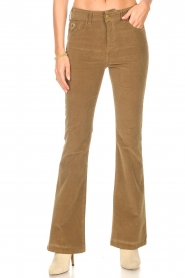 Lois Jeans |  High waisted flared pants Raval L34 | beige  | Picture 4