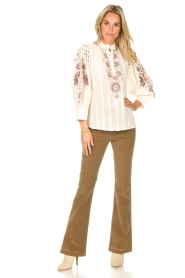 Lois Jeans |  High waisted flared pants Raval L34 | beige  | Picture 3