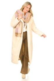 Dante 6 |  Scarf with logo D6 | beige  | Picture 2