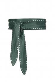 Dante 6 |  Leather studded belt Markala | green  | Picture 1