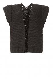 Kiro by Kim |  Knitted waistcoast Leanne | black  | Picture 1