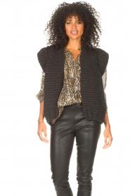 Kiro by Kim |  Knitted waistcoast Leanne | black  | Picture 2
