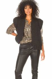 Kiro by Kim |  Knitted waistcoast Leanne | black  | Picture 5