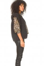 Kiro by Kim |  Knitted waistcoast Leanne | black  | Picture 6