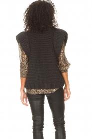 Kiro by Kim |  Knitted waistcoast Leanne | black  | Picture 7