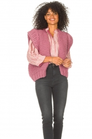 Kiro by Kim    Knitted waistcoast Leanne   pink    Picture 2