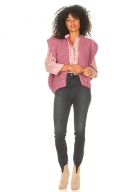 Kiro by Kim    Knitted waistcoast Leanne   pink    Picture 3