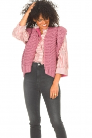 Kiro by Kim    Knitted waistcoast Leanne   pink    Picture 4