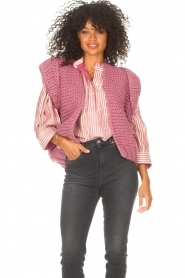 Kiro by Kim    Knitted waistcoast Leanne   pink    Picture 5