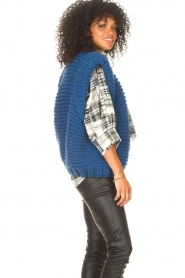 Kiro by Kim |  Knitted waistcoast Leanne | blue  | Picture 6