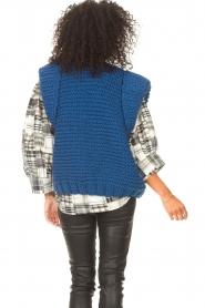 Kiro by Kim |  Knitted waistcoast Leanne | blue  | Picture 7