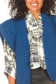 Kiro by Kim |  Knitted waistcoast Leanne | blue  | Picture 8