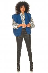 Kiro by Kim |  Knitted waistcoast Leanne | blue  | Picture 3