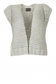 Kiro by Kim |  Knitted waistcoast Leanne | grey  | Picture 1