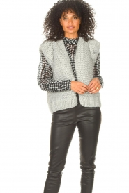 Kiro by Kim |  Knitted waistcoast Leanne | grey  | Picture 5