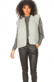 Kiro by Kim |  Knitted waistcoast Leanne | grey  | Picture 2