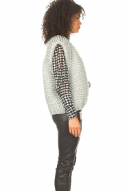 Kiro by Kim |  Knitted waistcoast Leanne | grey  | Picture 6