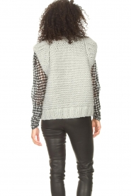 Kiro by Kim |  Knitted waistcoast Leanne | grey  | Picture 7