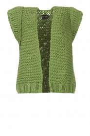 Kiro by Kim |  Knitted waistcoast Leanne | green  | Picture 1