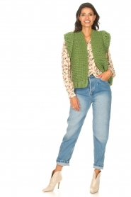 Kiro by Kim |  Knitted waistcoast Leanne | green  | Picture 3