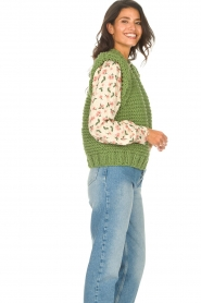 Kiro by Kim |  Knitted waistcoast Leanne | green  | Picture 5