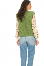 Kiro by Kim |  Knitted waistcoast Leanne | green  | Picture 6
