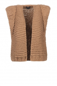 Kiro by Kim |  Knitted waistcoat Leanne | camel  | Picture 1