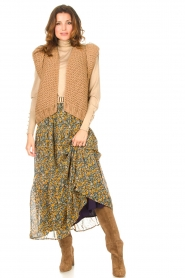 Kiro by Kim |  Knitted waistcoat Leanne | camel  | Picture 3