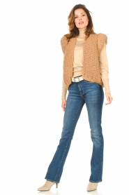 Kiro by Kim |  Knitted waistcoat Leanne | camel  | Picture 4