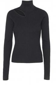Notes Du Nord    Turtleneck sweater with shoulder details Alba   black    Picture 1