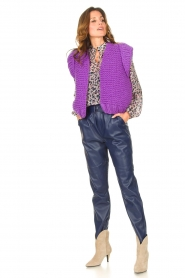 Aaiko |  Faux leather pants Pamalla | lilac  | Picture 2