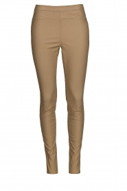Knit-ted    Faux leather leggings Amber   latte    Picture 1