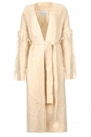 Silvian Heach    Knitted cardigan with fringes Cleveland   natural    Picture 1