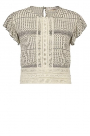 Freebird |  Top with embroided details Erina | natural  | Picture 1