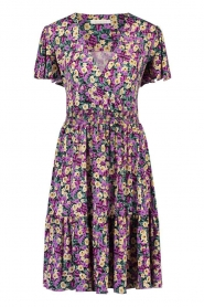 Freebird |  Dress with floral print Adalyn | purple  | Picture 1