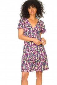 Freebird |  Dress with floral print Adalyn | purple  | Picture 4