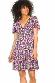 Freebird |  Dress with floral print Adalyn | purple  | Picture 2
