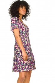 Freebird |  Dress with floral print Adalyn | purple  | Picture 5