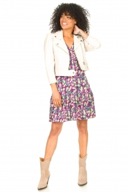 Freebird |  Dress with floral print Adalyn | purple  | Picture 3