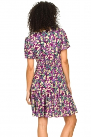 Freebird |  Dress with floral print Adalyn | purple  | Picture 6