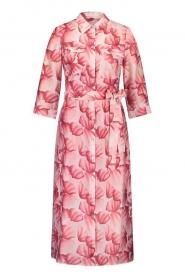 Freebird |  Midi dress with print Victoria | pink  | Picture 1