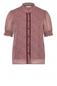 Freebird |  Blouse with print Ramona | red  | Picture 1
