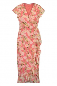 Freebird |  Midi dress with floral print Rosy | pink  | Picture 1