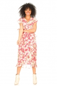 Freebird |  Midi dress with floral print Rosy | pink  | Picture 3
