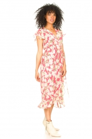 Freebird |  Midi dress with floral print Rosy | pink  | Picture 5