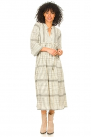 Freebird |  Midi dress with print Mabel | natural  | Picture 3
