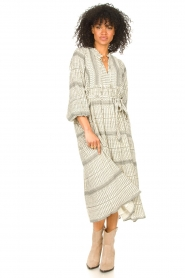 Freebird |  Midi dress with print Mabel | natural  | Picture 4