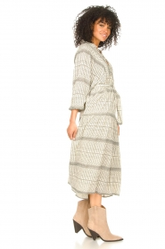 Freebird |  Midi dress with print Mabel | natural  | Picture 5
